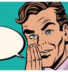 businessman promo poster pop art retro vector image