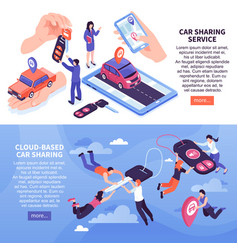 Car sharing banners vector