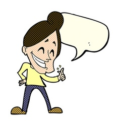 Cartoon man snapping fingers with speech bubble vector
