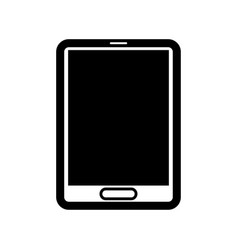 Cellphone with a blank black screen vector