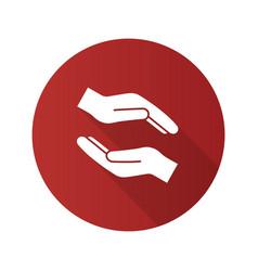Charity flat design long shadow glyph icon vector