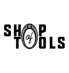 Color vintage tools shop emblem vector