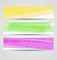 Colorful painted headers set vector image