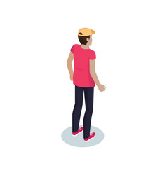 Courier delivery man icon vector