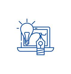 creativity line icon concept creativity flat vector image