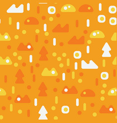 Creatures in the woods seamless pattern vector