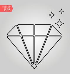 Diamond flat icon on white background vector