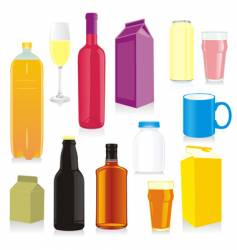 drink containers vector image