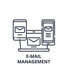 e-mail management line icon concept e-mail vector image