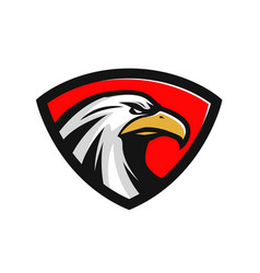 eagle logo or label sports mascot vector image