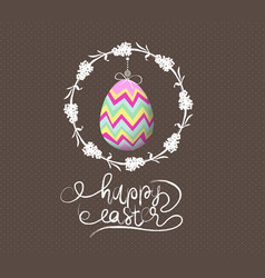 easter egg invited greeting card vector image