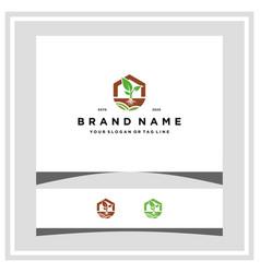 Farm house logo design concept vector