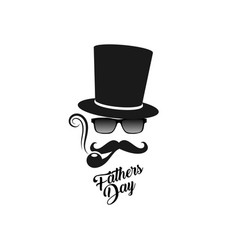 Fathers day gentleman s man mask logo vector