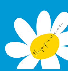 Festive a daisy happiness vector