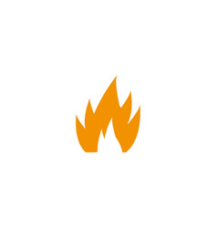 fire icon for design on whit vector image