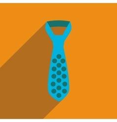 Flat icon with long shadow tie vector