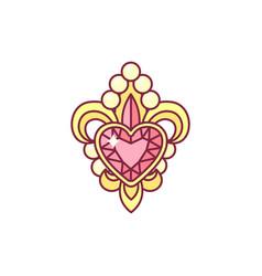 Fleur de lis lys heraldic vector