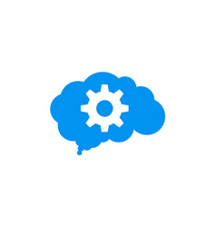 gear cloud technology logo vector image