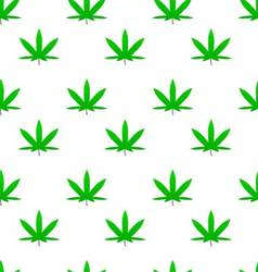 Green weed cannabis leaf pattern vector image