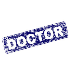 Grunge doctor framed rounded rectangle stamp vector
