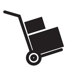Handcart icon on white background flat style vector