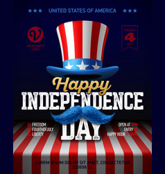 happy independence day party poster template vector image