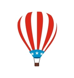 Hot air balloon with USA flag icon vector image