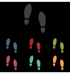 Imprint soles shoes vector image