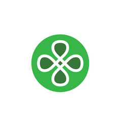 Infinity clover leaf icon design vector