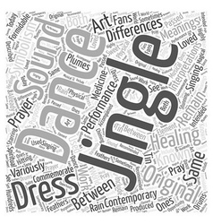 Jingle dresses Word Cloud Concept vector