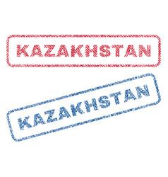 kazakhstan textile stamps vector image