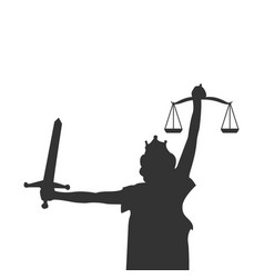 lady justice graphic design element vector image