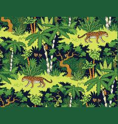 Leopard in jungle vector