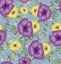 Light floral seamless pattern vector