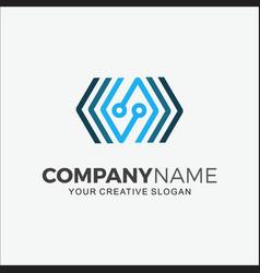 logo technology modern initial s vector image