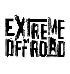 Offroad extreme lettering vector