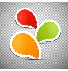 Orange Green Red Empty Labels Tags vector image