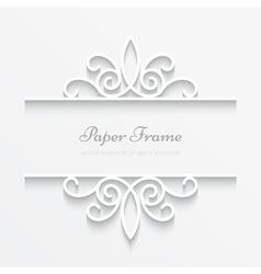 Ornamental paper frame vector