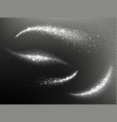 Overlay effect magic glowing trace sparkle wave of vector
