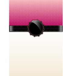 Pink abstract vintage card and badge vector