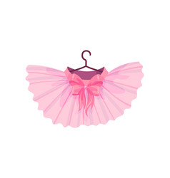 Pink ballet tutu on white vector