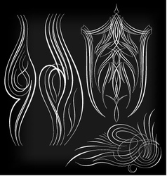 pinstriping set1 vector image