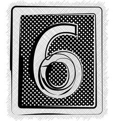 Polka Dot Font NUMBER 6 vector