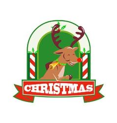 Reindeer Deer Stag Buck Christmas vector image