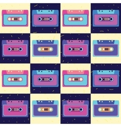 Retro cassette in flat style Set of vector