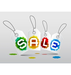 Sale Labels with Splashes - Blots vector image