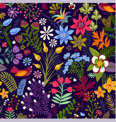 seamless floral pattern colorful wallpaper vector image