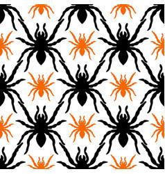 Seamless pattern with tarantula vector