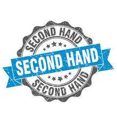 Second hand stamp sign seal vector