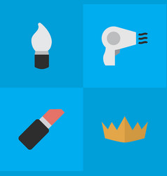 Set of simple glamour icons vector